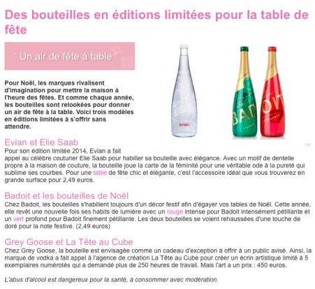 Des bouteilles en éditions limitées pour la table de fête